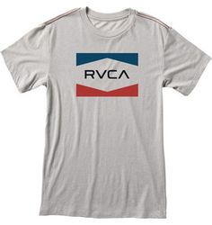 The RVCA Boys RVCA Nation is a slim fit, vintage dye tee with a front screen print and screened inside neck.