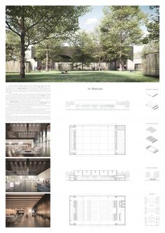 Student Project - Welcome my homepage Architecture Panel, Architecture Graphics, Architecture Visualization, Concept Architecture, Landscape Architecture, Architecture Design, Portfolio Design Layouts, Layout Design, Interior Design Presentation