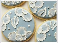 Any colour icing pretty lace cookies