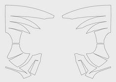 dali-lomo: Spider-Man Face Shell DIY - Cardboard (template)
