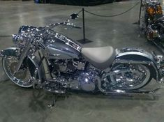 Harley Davidson Softail Deluxe-All Chrome...wowsers!