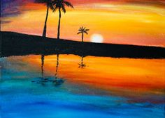 Uptown Art Uncorked West Palm Beach, FL  Come and paint a little slice of heaven! Register at UptownArt.com
