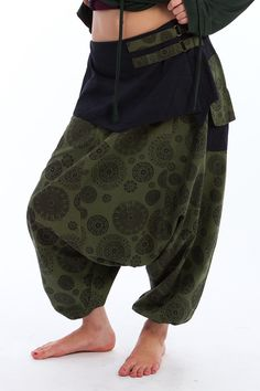 Harem trousers with belt £34.99 by GEKKO BOHOTIQUE  Goa Trance,Steampunk,Psytrance,Hippie,Boho,Tribal festival clothing. Pocket belts, hats and wrists Warmers.Come visit our shops in Camden and Greenwich Markets