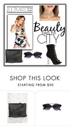 """""""She run's the city!"""" by amiclubwear ❤ liked on Polyvore featuring allblackeverything and amifashion"""