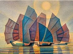 Happy Art, Satin Stitch, Google Images, Tumblr, Colours, Watercolor, Painting, Yachts, Breeze