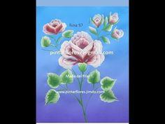 Roses One stroke. Peinture roses. Come dipingere la rosa. Pintar Rosas. Rosa 10 - YouTube