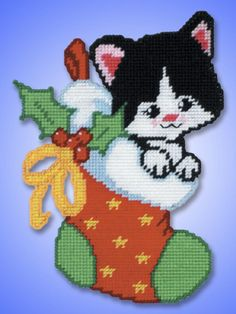 Snowman Ornament Plastic Canvas | Plastic Canvas