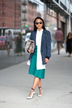 The best street style looks spotted yesterday outside #NYFW