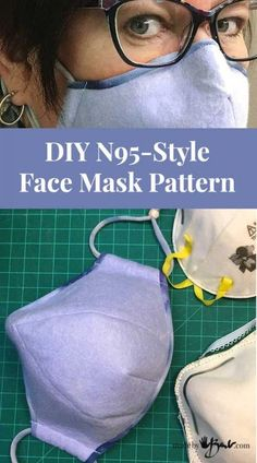 DIY N95-Style Face Mask Pattern - Made By Barb - shaped structure Sewing Hacks, Sewing Tutorials, Sewing Crafts, Sewing Projects, Dress Tutorials, Diy Projects To Try, Easy Face Masks, Diy Face Mask, Face Diy