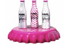 Karl Lagerfeld limited-edition diet coke, i love the pink bottles!