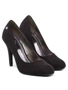 DIBA BLINK Fake Kid Suede Pumps Schwarz
