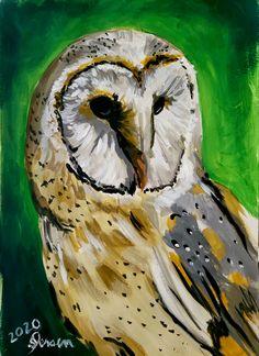 Original Artwork, Owl, Bird, Fine Art, Animals, Painting, Animales, Animaux, Owls