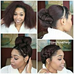 Natural Hair: 3 Quick Styles for a Blow-Out Curly Nikki Natural Hair Care Vida Natural, Pelo Natural, Natural Hair Tips, Natural Hair Styles, Braid Out Natural Hair, How To Grow Natural Hair, Natural Oil, Natural Curls, My Hairstyle