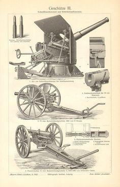 1910 Artillery Guns Autocannons Quick-firing by CabinetOfTreasures