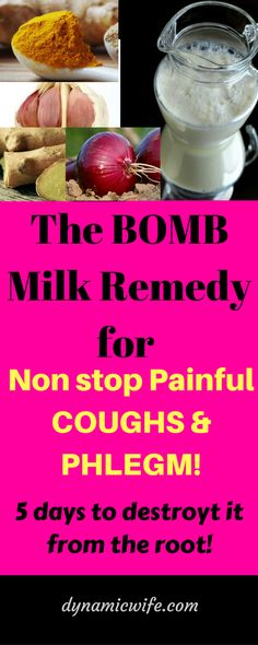 Bomb Remedy to get rid of Painful Coughs and Phlegm in 5 days! Asthma Remedies, Holistic Remedies, Natural Health Remedies, Natural Cures, Natural Healing, Herbal Remedies, Health And Beauty Tips, Health Advice, Health And Wellness