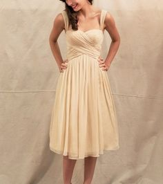Bridal Market Royal Inspired Rustic Chic: Ivy & Aster Dresses (empire sweetheart romantic champagne) - Lover.ly
