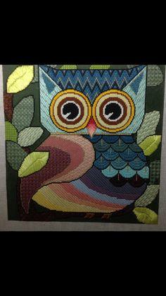 Stitch ideas for my Owl canvas