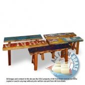 Bench Rita made from reclaimed boat timber. Nautical, recycled, reclaimed, boatwood, boat furniture.
