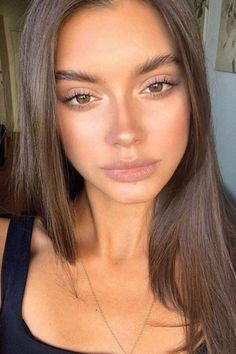 Natural Makeup For Brown Eyes, Makeup Looks For Brown Eyes, Summer Makeup Looks, Natural Makeup Looks, Simple Makeup, Natural Glow Makeup, Skin Makeup, Beauty Makeup, Hair Beauty