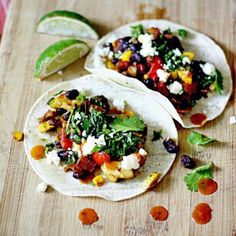 Veggie Tacos with Queso Fresco