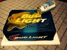 Bud Light Beer Cake, The can is made of chocolate and the Beer is sugar