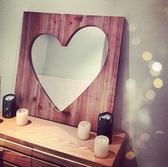 heart shaped mirror..............d