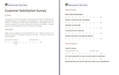 Post Conference Survey  A Survey To Evaluate The Quality Of