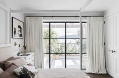 Home Decor Crafts Waterfront Holiday Villa in Palm Beach by Alexander & Co Design.Home Decor Crafts Waterfront Holiday Villa in Palm Beach by Alexander & Co Design. Palm Beach, Interior Design Awards 2018, Beach Style Curtains, Beach House Pictures, Mediterranean Bedroom, Mediterranean Homes, Curtains Living, Bedroom Curtains, Window Curtains