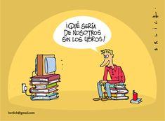 Lectura y cultura: Qué sería de nosotros sin los libros - tiene muchos libros, no lee, pone la tele, encima de, ve