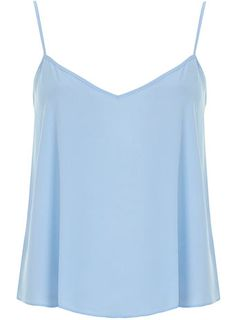 Petite Blue Wovem Cami - New In Clothing  - New In