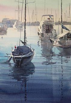 Calm Morning II in Santa Margherita Ligre 51cm × 36cm