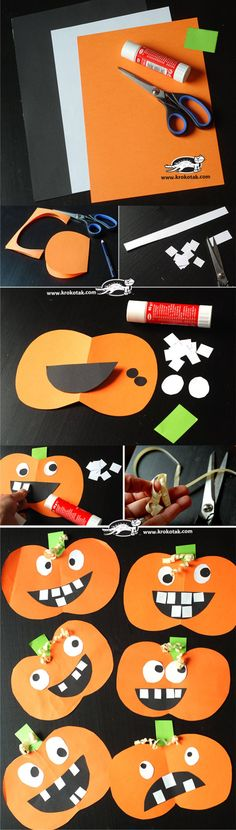 Adding some green to the house decor is as essential as anything can be and the exact same can be placed on the kids' room as well so make certain tha.Jack-o-lantern paper craft for kids.Simple Halloween Crafts Ideas For Kids - Life HackDiscover recipes, Theme Halloween, Halloween Arts And Crafts, Halloween Activities, Holidays Halloween, Halloween Kids, Paper Halloween, Halloween Bedroom, Halloween Decorations, Halloween Infantil