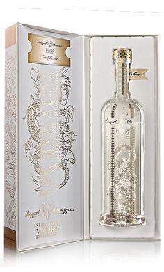 Royal Dragon Vodka by Nickey Khem, via Behance