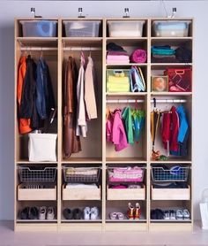 ikea PAX for a mudroom- awesome organization unit! this is what we are putting in our mudroom with white doors