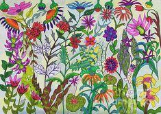 Exploring Spring, drawing by Caroline Street. #Springtime #flowerart #gardening #flowerbed #plants
