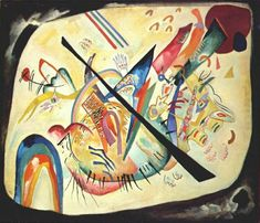 Wassily Kandinsky (1866-1944) - White oval, oil on canvas, 1919 | Tretyakov Gallery, Moscow, Russia