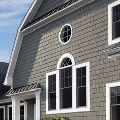 CertainTeed fiber cement siding is just one of the siding types for you to consider when searching for house siding. Siding prices for fiber cement siding are the middle of the road. Siding Cost, Concrete Siding, Fiber Cement Siding, Concrete Cement, Shingle Siding, House Siding, Hardiplank Siding, Gray Siding, Facades