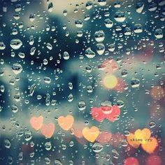 quadro chuva corações