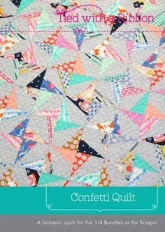 This Confetti Quilt is a visually striking quilt that is perfect to showcase fabric ranges or makes an excellent scrap quilt. It is Fat Quarter friendly or perfect to make a big dent in your scrap buc