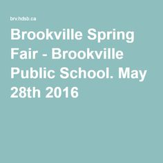 May 2016 Spring Fair, Local Events, Community Events, Public School, State School