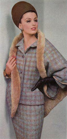 Dorothea McGowan wearing Ben Reig for DuPont 1963 Vintage Inspired Fashion, 1960s Fashion, Diy Fashion, Fashion Dolls, Vintage Fashion, 20th Century Fashion, Vintage Coat, Vintage Style, Richard Avedon