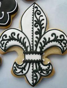.Oh Sugar Events: Mais Oui Christmas Paris Christmas cookies, fleur de lis