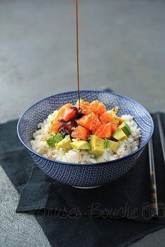 Japanese Diet - Chirashi au saumon, avocat et graines de sésame Comida Armenia, Asian Recipes, Healthy Recipes, Juice Recipes, Japanese Diet, Stop Eating, Clean Eating, Avocado Toast, Salmon Avocado