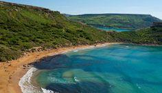 Golden Bay beach, Malta