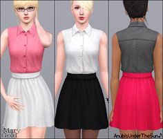 Anubis Under The Sun ♪: Mary Gold ~ Office dress Sims 3 Mods, Sims 4 Game Mods, Sims 1, Office Dresses, Casual Dresses, Sims 3 Cc Clothes, Sims 3 Cc Finds, Teacher Dresses, Play Sims