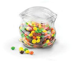 Amazon.com | Fred UNZIPPED Hand-Blown Glass Bowl: Serving Bowls: Serving Bowls