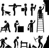 Clipart - trabalhador construção, trabalho, ícone, Pictog k7337840 - Busca de Ilustrações, Clip Art, Desenhos, Ilustrações vetoriais e video clip de animação EPS. - k7337840.eps