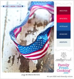 ColorFresh Palette Red + White +  Blue | MarlaMeridith.com