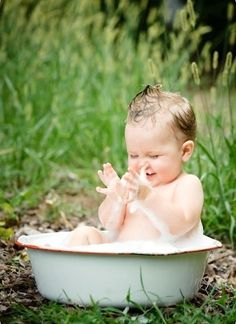 Simple pleasures - the joy of water and bubbles!