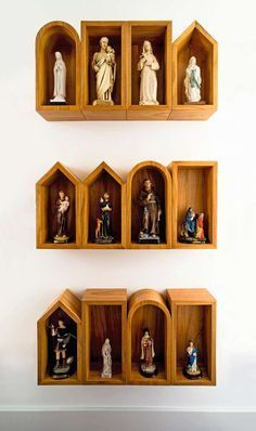 or make little mini churches to house each one in a different style Metal Wall Decor, Metal Wall Art, Home Altar Catholic, Altar Design, Prayer Corner, Personalised Family Tree, Prayer Room, Religious Art, Metal Walls